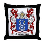 Szczaplina Coat of Arms Throw Pillow