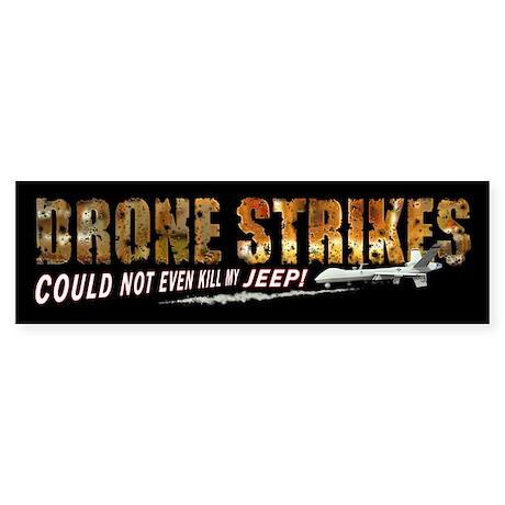 Drone Strikes Jeep Sticker (Bumper)