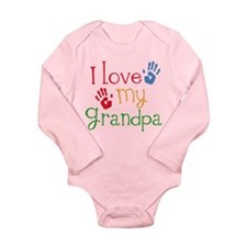 I Love Grandpa Baby Suit