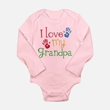 I Love Grandpa Long Sleeve Infant Bodysuit