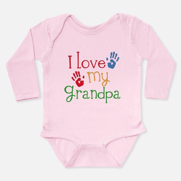 I Love Grandpa Long Sleeve Infant Bodysuit