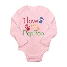 I Love PopPop Long Sleeve Infant Bodysuit