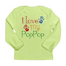 I Love PopPop Long Sleeve Infant T-Shirt