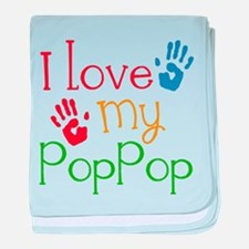 I Love PopPop baby blanket