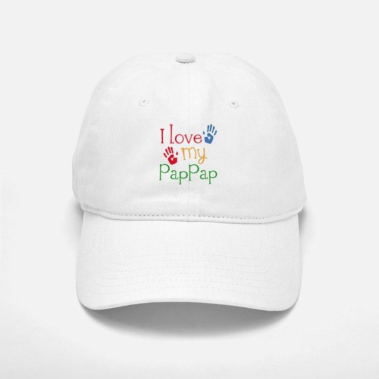 I Love PapPap Baseball Baseball Cap