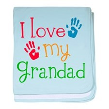 I Love Grandad baby blanket