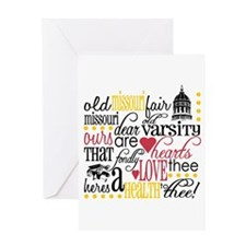Mizzou girl Greeting Card