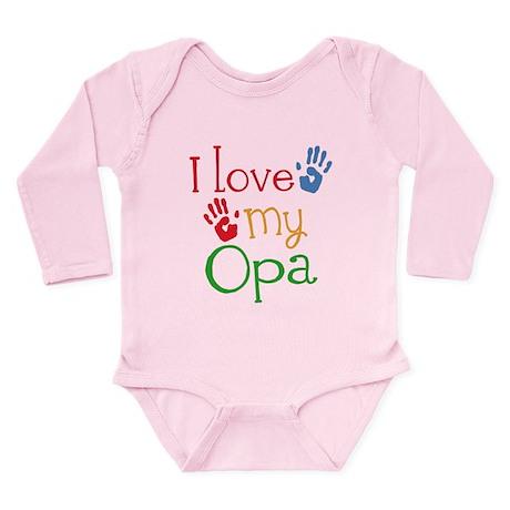 I Love Opa Long Sleeve Infant Bodysuit