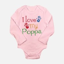 I Love Poppa Long Sleeve Infant Bodysuit