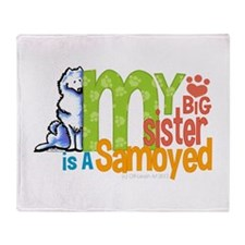 Big Sister Samoyed Throw Blanket