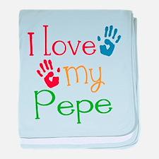 I Love Pepe baby blanket