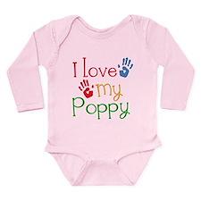 I Love Poppy Long Sleeve Infant Bodysuit