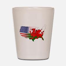 American Welsh Map Shot Glass
