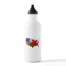 American Welsh Map Water Bottle
