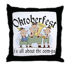Funny Oktoberfest Throw Pillow