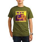 Ecto Radio Yellow Text Organic Men's T-Shirt (dark