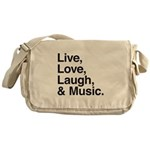 love and music Messenger Bag