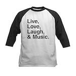 love and music Kids Baseball Jersey