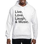 love and music Hooded Sweatshirt