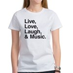 love and music Women's T-Shirt