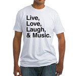 love and music Fitted T-Shirt