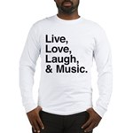 love and music Long Sleeve T-Shirt