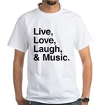 love and music White T-Shirt