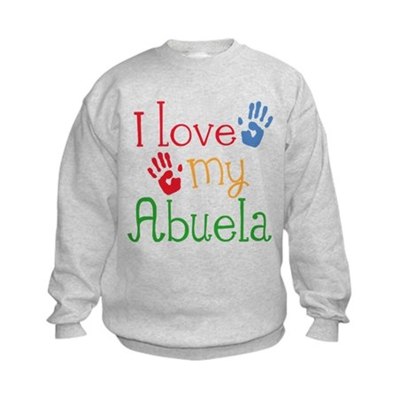 I Love Abuela Kids Sweatshirt