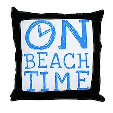 On Beach Time Throw Pillow