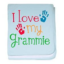 I Love Grammie baby blanket