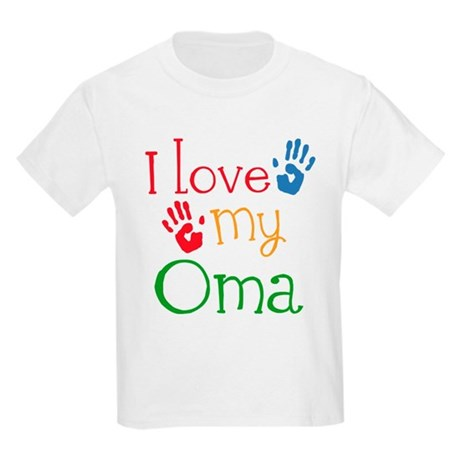 I Love Oma Kids Light T-Shirt