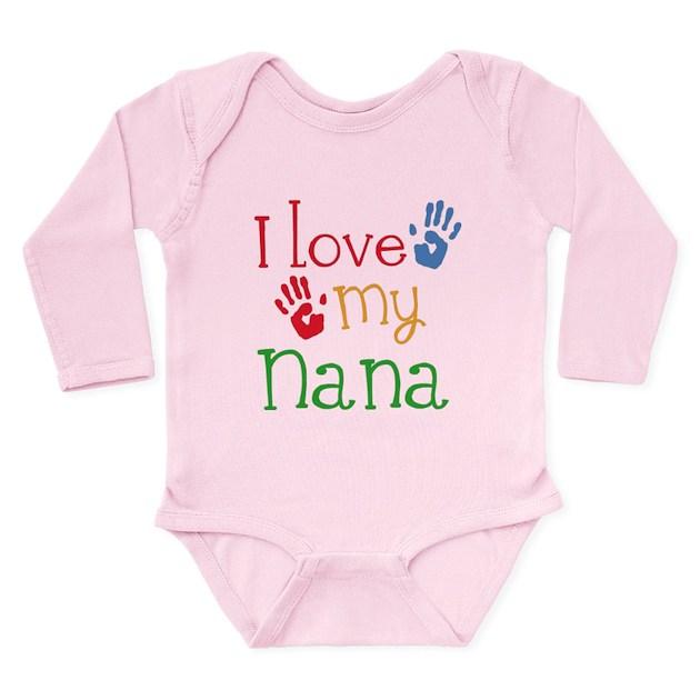I Love Nana esie Romper Suit by mainstreetshirt