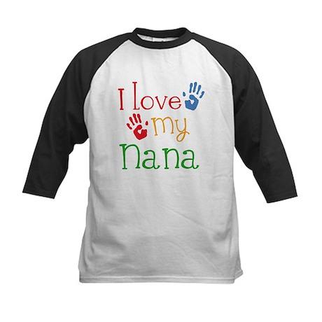 I Love Nana Kids Baseball Jersey