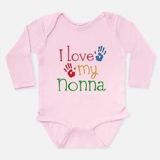 I Love Nonna Long Sleeve Infant Bodysuit