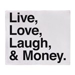 love and money Throw Blanket