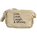 love and money Messenger Bag