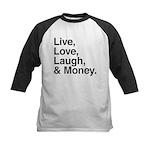 love and money Kids Baseball Jersey