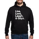 love and guys Hoodie (dark)
