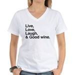 good wine Women's V-Neck T-Shirt