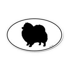 Pomeranian Oval Car Magnet