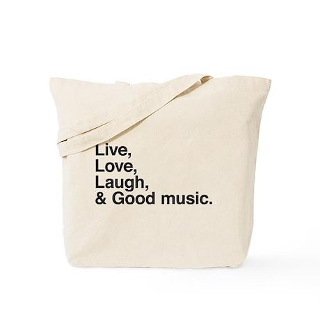 good music Tote Bag