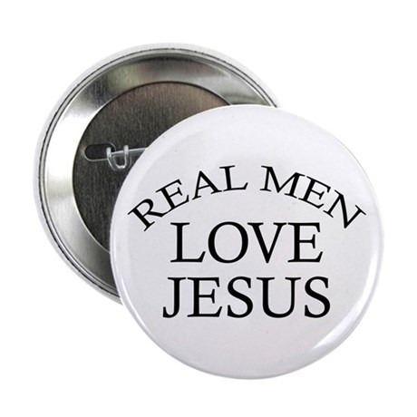 "Real Men Love Jesus 2.25"" Button"