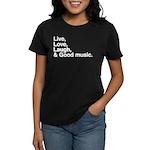 good music Women's Dark T-Shirt