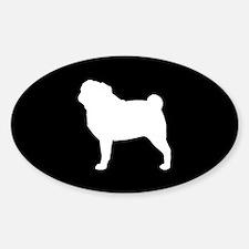 Pug Sticker (Oval)