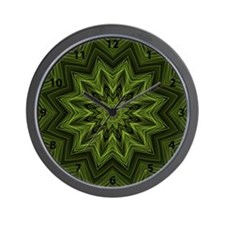 Woven Jungle Leaves mandala with numbers Wall Cloc