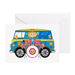 Hippie Girl with Drum Kit Greeting Card
