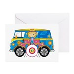 Hippie Girl with Drum Kit Cards (Pk of 10)