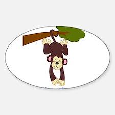 First Birthday Monkey Decal