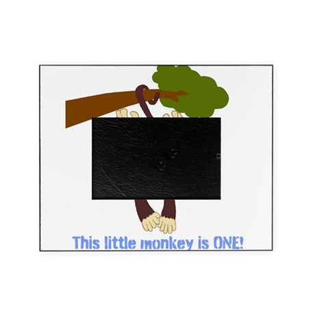 First Birthday Monkey Picture Frame