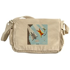 Squirrel and Basejumpers Cartoon Messenger Bag